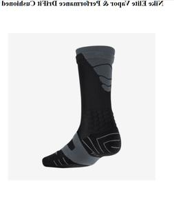 Nike Men's Dri Fit Vapor Elite Socks PSX311-100 Black Grey F