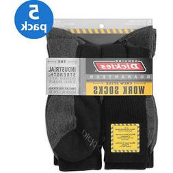 Dickies - Men's Dri-Tech Comfort Crew Work Socks Black  5-Pa
