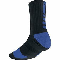 NIKE  ELITE DRI-FIT  BASKETBALL CREW SOCKS BLACK, ROYAL BLUE