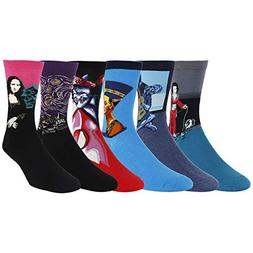 Zmart Men's Famous Painting Casual Cotton Sport Crew Socks 6