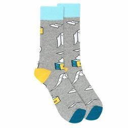 Men's Fun Crew Toilet Paper Novelty Socks