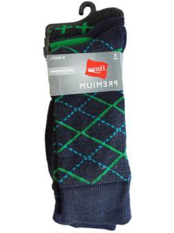 HANES Men's Fun Dress Casual 3-Pack Premium Fun Socks argyle