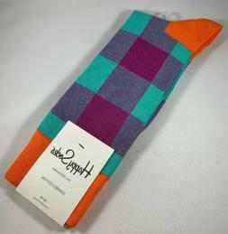MEN'S HAPPY SOCKS FUN GEOMETRIC PATTERN DRESS SIZE 10-13 CRE