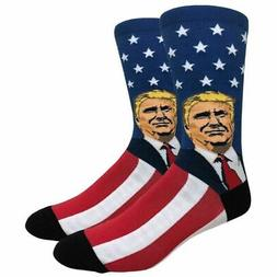 Men's Fun Novelty Print Casual Crew Socks President Donald T