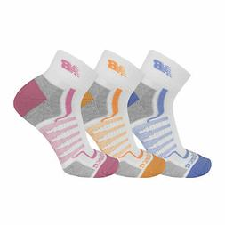 New Balance Men's Half-Cushion Ankle Quarter Socks 3 Pairs