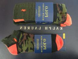 Polo RALPH LAUREN Men's Hunting Camo Crew or Ankle Socks 3 P