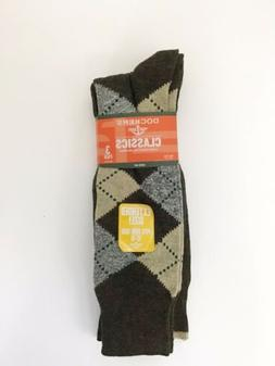 Men's Levi's Dockers Big and Tall Classic Brown Argyle Socks