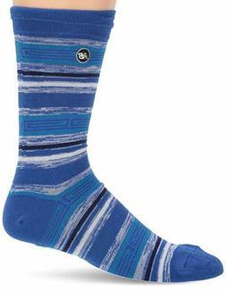 Men's New Balance Lifestyle STRIPE Crew Socks N11461 BLUE