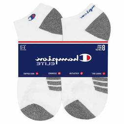 Champion Men's Low Cut No Show White Socks, 8-pair