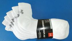 Under Armour Men's Low Cut Socks 4 Pack Large White PERFORMA