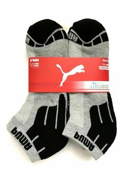 PUMA Men's Low Cut Socks Cushioned Half Terry Grey/Blk 6-Pai