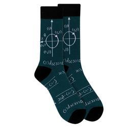 Men's Math Novelty Dress Socks Size 10-13 Men Shoe 6-12.5 Bl