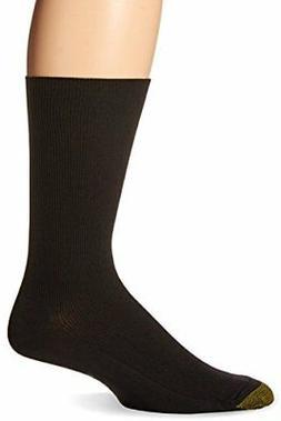 Gold Toe Men's Metropolitan Dress Sock, Black, 3-Pack Sock S