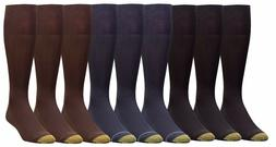 Gold Toe Men's Metropolitan Over the Calf Dress Socks 3 Pack