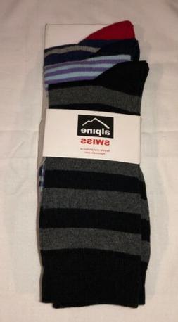 Alpine Swiss Men's Multi Colored Socks Shoe Size 6 - 12 NWT
