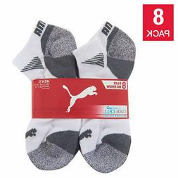 Puma Men's No Show Sock 8-pair White, Extended, Sock size 13