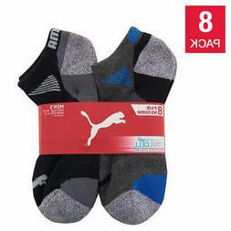 Puma Men's No Show Sock 8-pair, Multi, Extended, Sock size 1