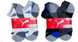 8-pair Puma Men's No Show Socks, Mesh Ventilation & Moisture