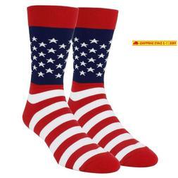 Happypop Men'S Novelty American Flag Crew Socks, Crazy Funny