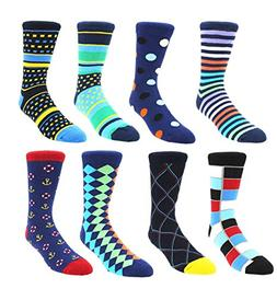 Zmart Men's Novelty Colorful Argyle Dress Socks, Classic Col