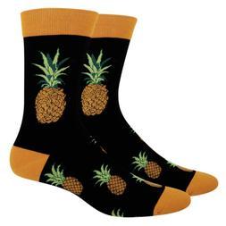 Zmart Men's Novelty Crazy Funky Pineapple Crew Socks Cool Fu