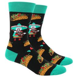 Zmart Men's Novelty Crazy Funky Taco Crew Socks Funny Mexica