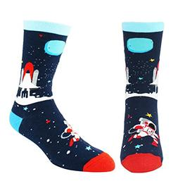 Men's Cool Space Funny Novelty Crew Socks Fun Math Rocket Co