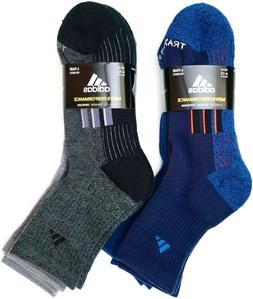 Adidas Men's Performance High Quarter Socks, Shoe Size 6-12,