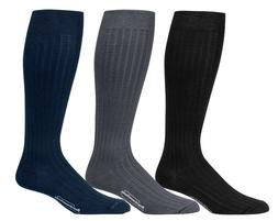 Boardroom Socks Men's Over the Calf Knee High Cotton Dress W