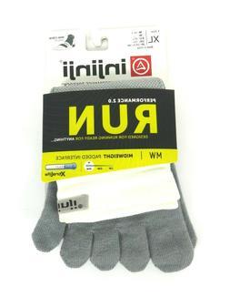men s run toe socks xl grey