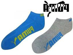 Puma Men's Socks 6-Pack Low Cut Terry Ankle Grey / Blue Size