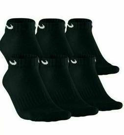 Nike Men's Socks Cushioned Low Cut Dri-Fit Cotton Black 6 Pa