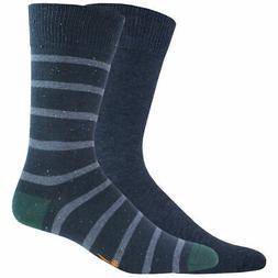 Dockers Men's Stripe Crew Socks, 2 Pack