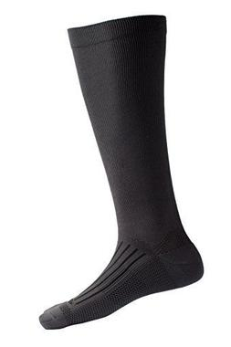 ExOfficio Men's Travel Compression Sock, dark charcoal, Medi