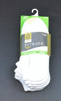 Gold Toe Men's Ultra Tec No Show Athletic Socks 3 Pack, Whit