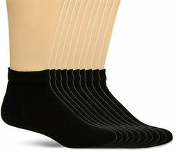 Fruit of the Loom Men's Value 10 Pack Low Cut Socks