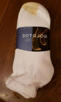 Gold Toe® Men's White Cushion Cotton Quarter Socks, 6 Pair,