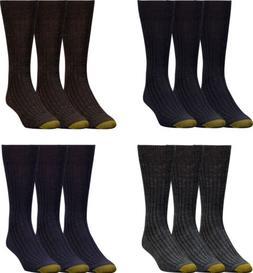Gold Toe Men's Windsor Wool Dress Crew Socks, 4 Colors, 3 Pa
