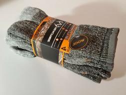 RealTree Men's Wool Blend Socks 4 pairs size 10-13 MSRP  Hik