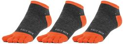 FUN TOES Men Toe Socks 3 Pairs Size 10 to 13 Shoe 6 to 12.5