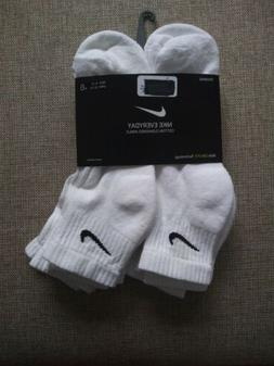 Men Nike White Ankle Socks 3 or 6 pairs Size