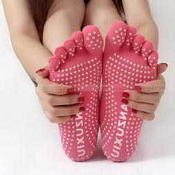 Men Women Sport Yoga 5 Toes Socks Exercise Massage Cotton Pi