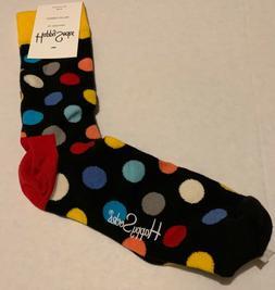 Happy Socks - Men's 10-13 polka dots on black