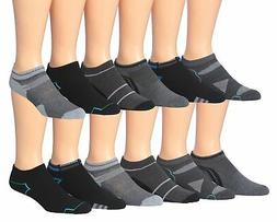 James Fiallo Mens 12-pack Low Cut Athletic Socks, Fits 10-13