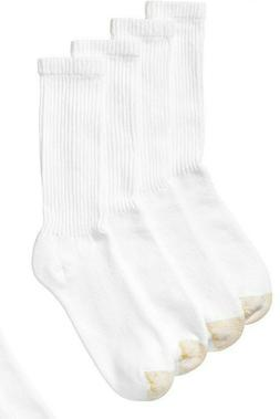 Gold Toe Mens 3-Pack Pairs Athletic Cushioned Crew Socks Whi