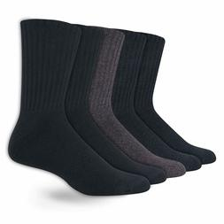 Dockers Mens 5 Pack Cushion Comfort Sport Crew Sock Navy Cha