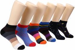 Marino Avenue Mens Ankle Socks Funky Colorful Low Cut Sock F