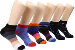 Marino Avenue Mens Ankle Socks - Funky Colorful Low Cut Sock