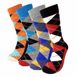 Mens Colorful Dress Socks Argyle - HSELL Men Classic Argyle