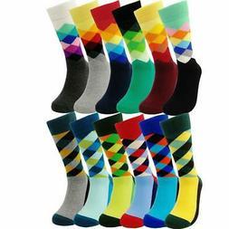 Mens Colorful Dress Socks Argyle - HSELL Men Multicolored Ar